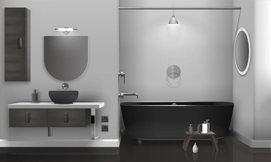 Où placer les spots dans une salle de bain ?